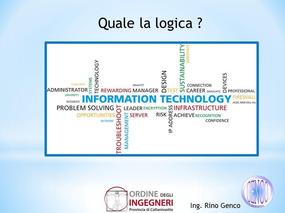 Ing. Rino Genco Quale la logica