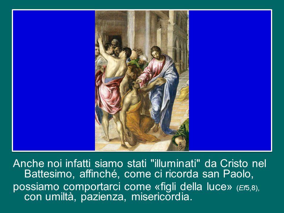 Dobbiamo pentirci di questo, eliminare questi comportamenti per camminare decisamente sulla via della santità. Essa ha la sua origine nel Battesimo.
