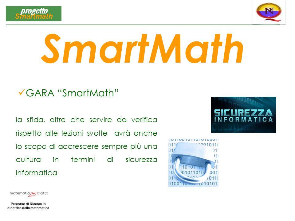 """Matematica per la Città Percorso di Ricerca in didattica della matematica progetto Smartmath GARA """"SmartMath"""" SmartMath la sfida, oltre che servire da"""