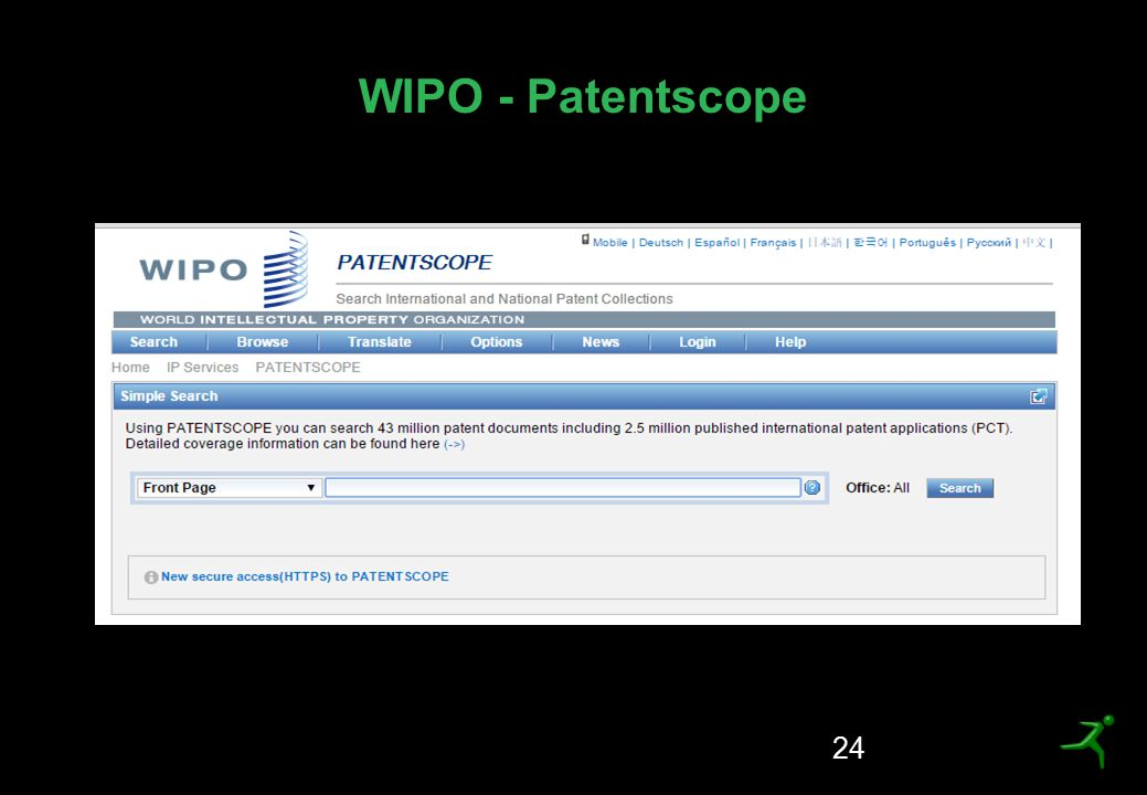 WIPO - Patentscope 24
