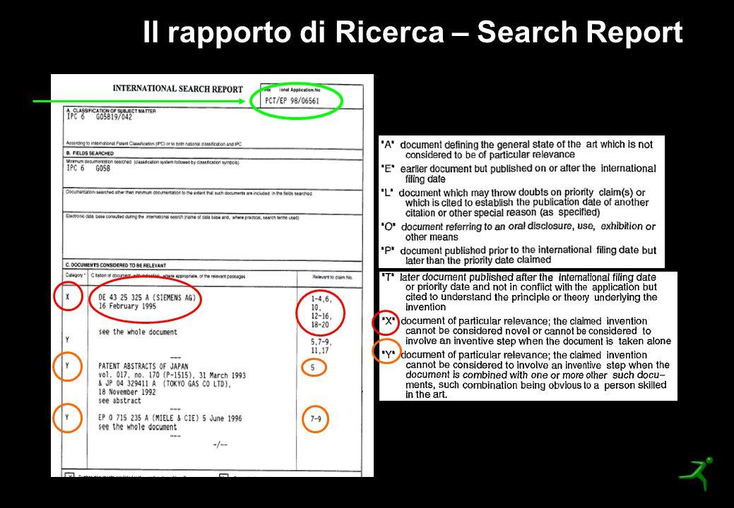 Il rapporto di Ricerca – Search Report