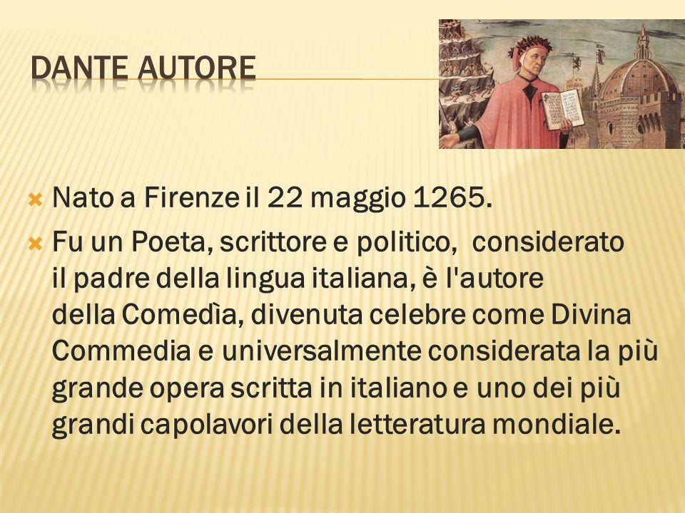 NNato a Firenze il 22 maggio 1265.