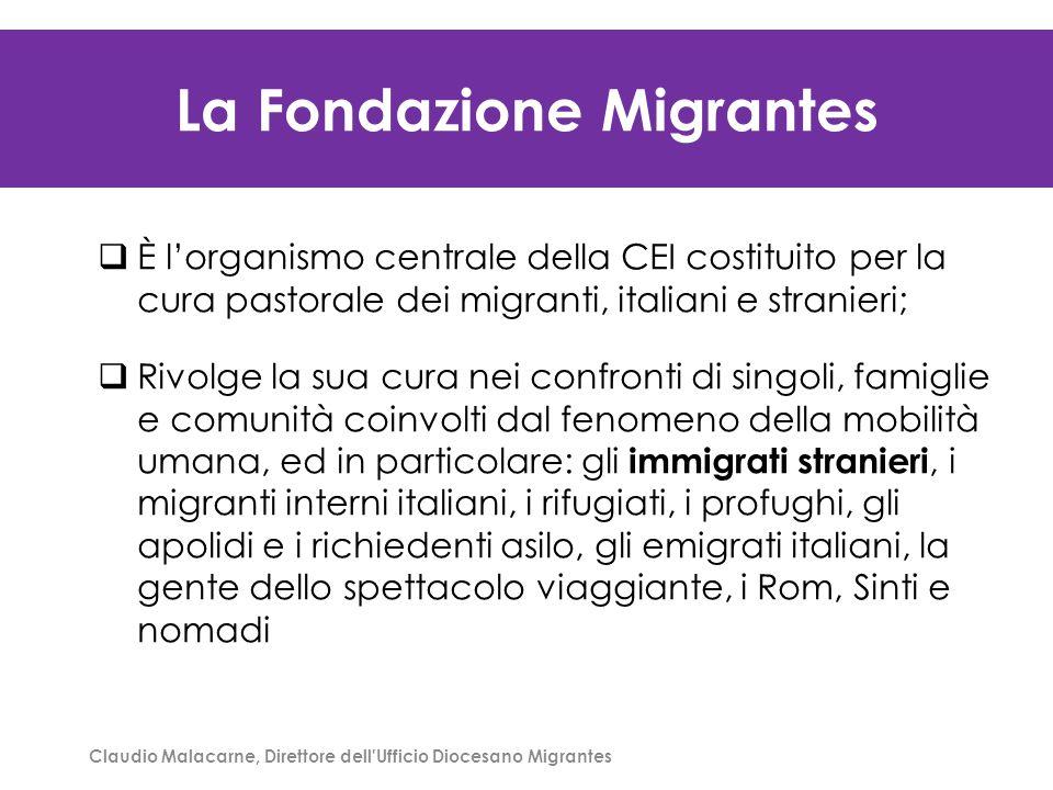 Claudio Malacarne, Direttore dell'Ufficio Diocesano Migrantes La Fondazione Migrantes  È l'organismo centrale della CEI costituito per la cura pastor