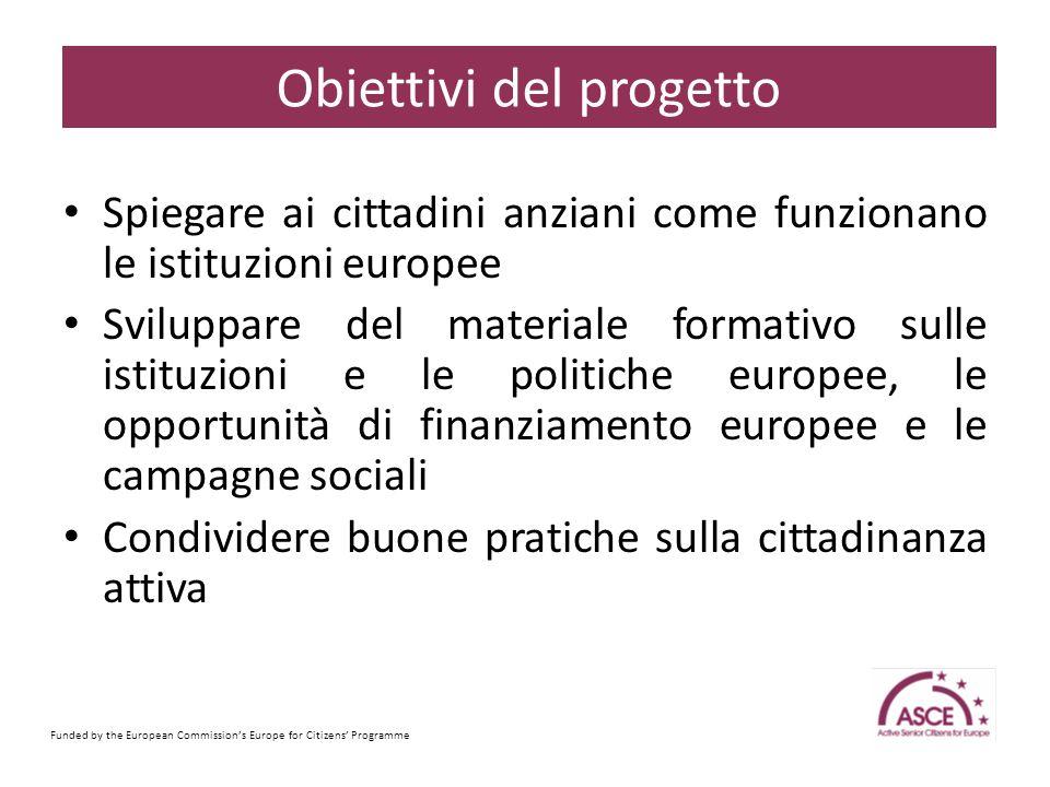 2014 : Elezioni europee (22-25 maggio) Rinnovo della Commissione Europea e del suo Presidente Funded by the European Commission's Europe for Citizens' Programme Sample Content Slide Perchè questo progetto ora.