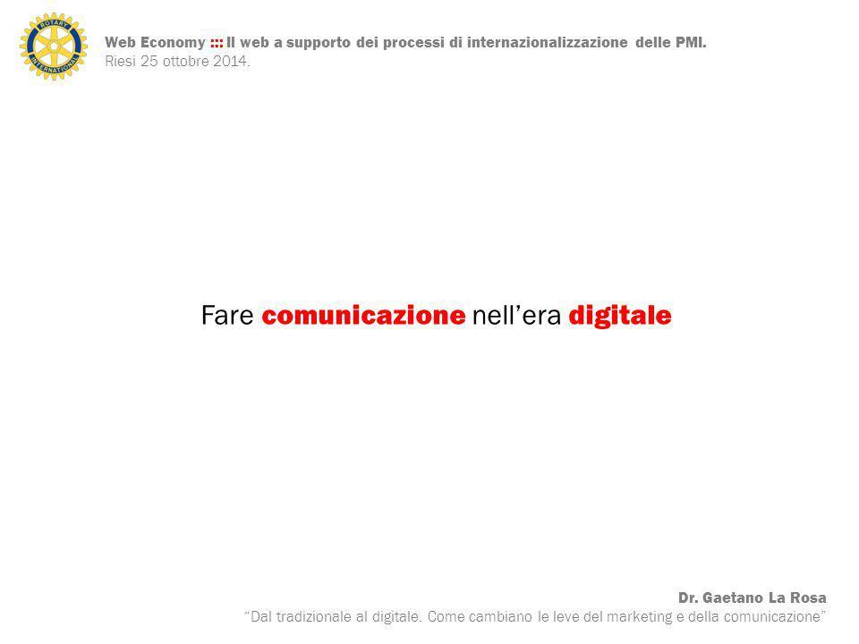 Web Economy ::: Il web a supporto dei processi di internazionalizzazione delle PMI.