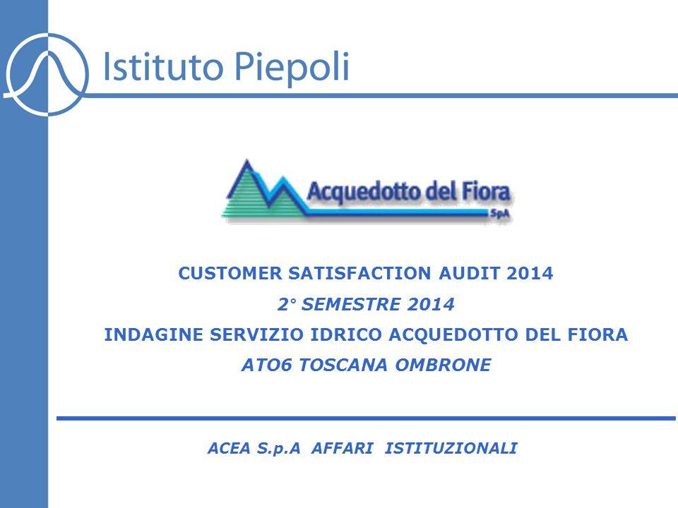 162 INTERVENTO TECNICO MOTIVI DI CONTATTO Negli ultimi 6 mesi, ha contattato Acquedotto del Fiora per uno o più dei seguenti motivi.