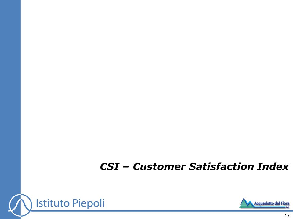 CSI – Customer Satisfaction Index 17