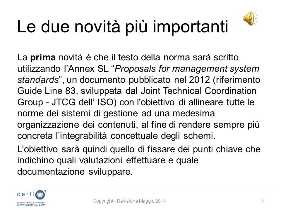 Le tappe della nuova ISO Il calendario che definisce le fasi di pubblicazione della norma è il seguente (così come definito dall'ISO TC 207 SC1): otto