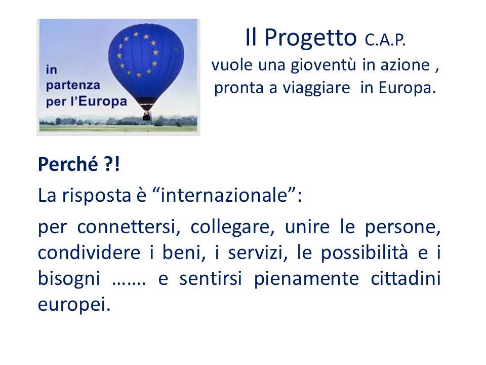 """Il Progetto C.A.P. vuole una gioventù in azione, pronta a viaggiare in Europa. Perché ?! La risposta è """"internazionale"""": per connettersi, collegare, u"""