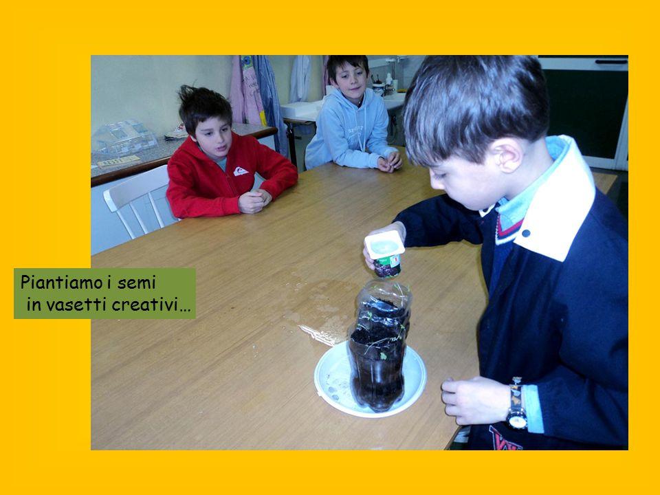 Piantiamo i semi in vasetti creativi…
