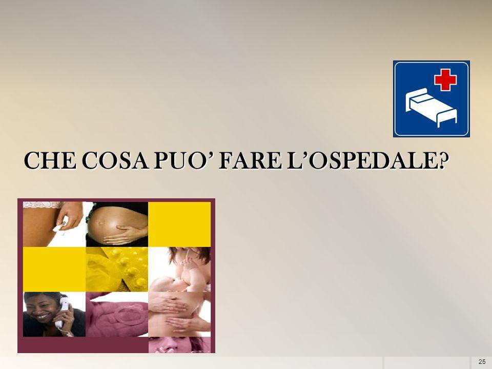 25 CHE COSA PUO' FARE L'OSPEDALE?