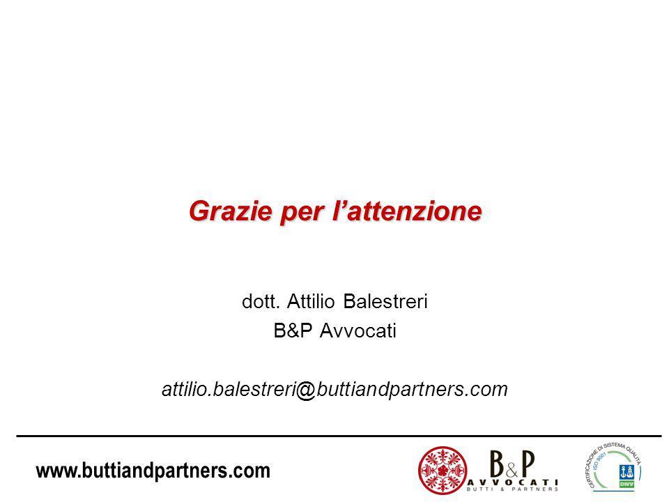 www.buttiandpartners.com Grazie per l'attenzione dott.