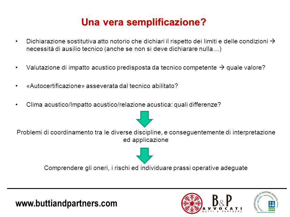 www.buttiandpartners.com Una vera semplificazione.