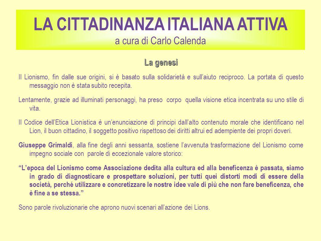 La genesi Il Lionismo, fin dalle sue origini, si è basato sulla solidarietà e sull'aiuto reciproco.