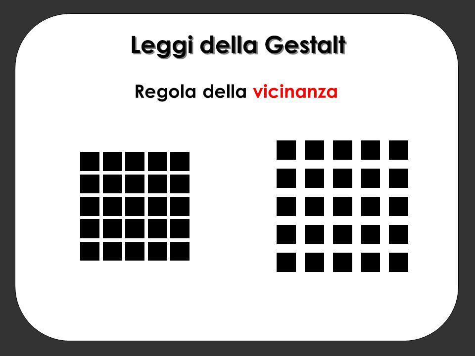 Regola della vicinanza Leggi della Gestalt