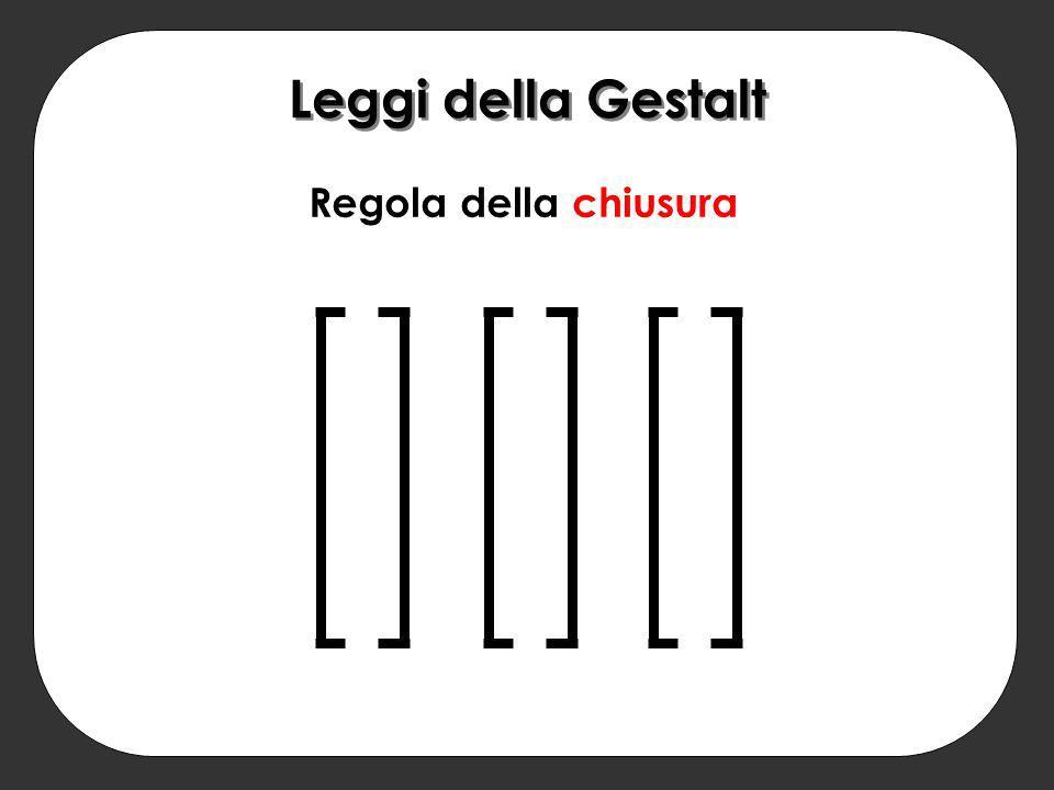Leggi della Gestalt Regola della chiusura