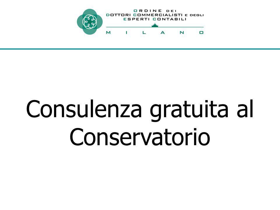 Consulenza gratuita al Conservatorio