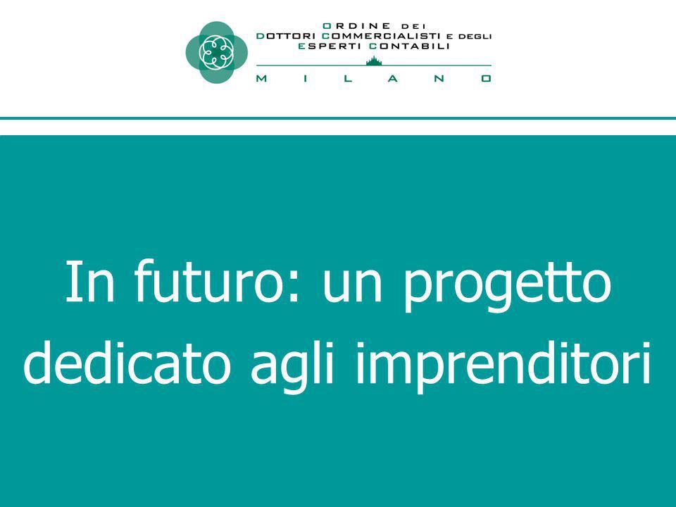 In futuro: un progetto dedicato agli imprenditori