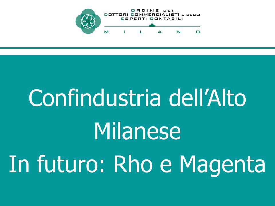 Confindustria dell'Alto Milanese In futuro: Rho e Magenta