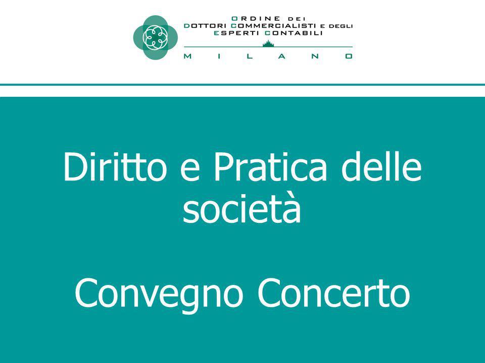 Diritto e Pratica delle società Convegno Concerto