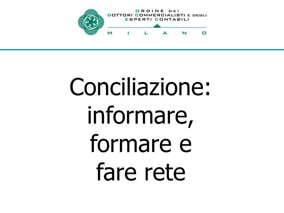 Conciliazione: informare, formare e fare rete