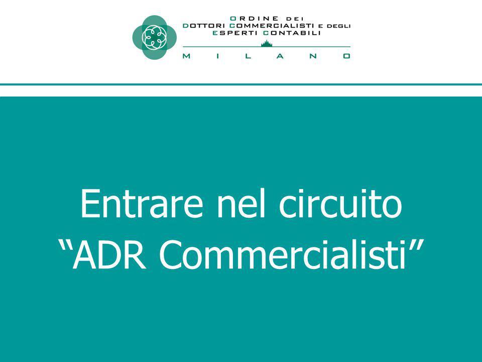 Entrare nel circuito ADR Commercialisti