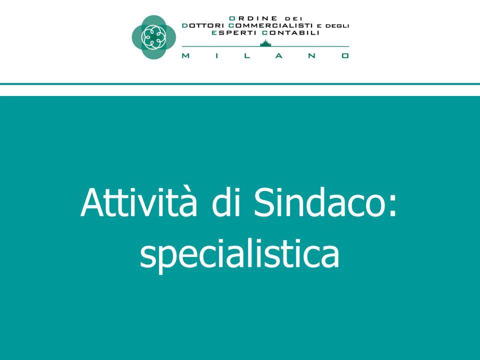 Attività di Sindaco: specialistica
