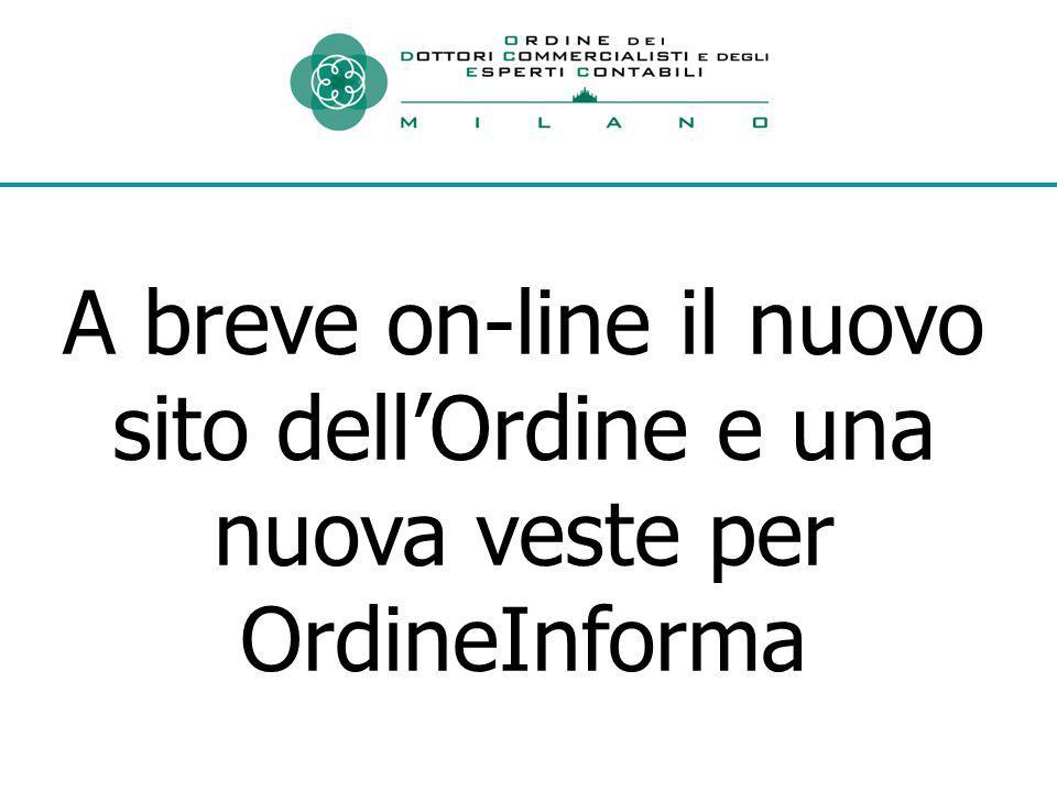 A breve on-line il nuovo sito dell'Ordine e una nuova veste per OrdineInforma