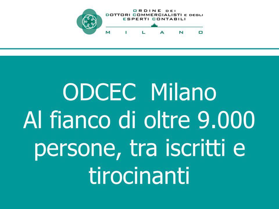 ODCEC Milano Al fianco di oltre 9.000 persone, tra iscritti e tirocinanti