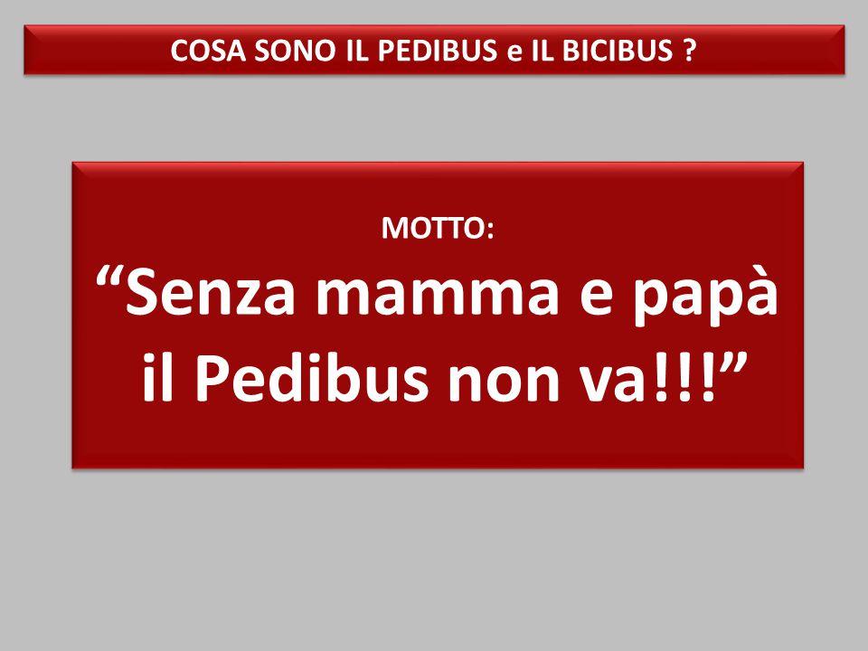 MOTTO: Senza mamma e papà il Pedibus non va!!! MOTTO: Senza mamma e papà il Pedibus non va!!! COSA SONO IL PEDIBUS e IL BICIBUS