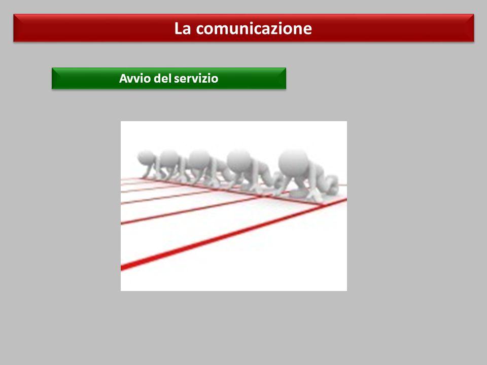 La comunicazione Avvio del servizio