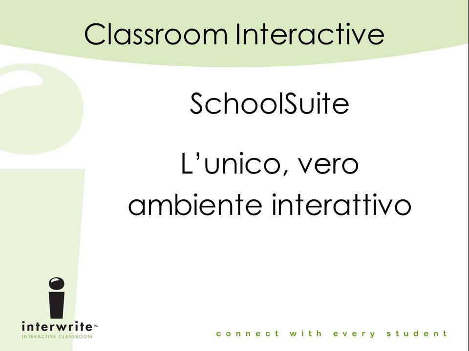 Classroom Interactive SchoolSuite L'unico, vero ambiente interattivo