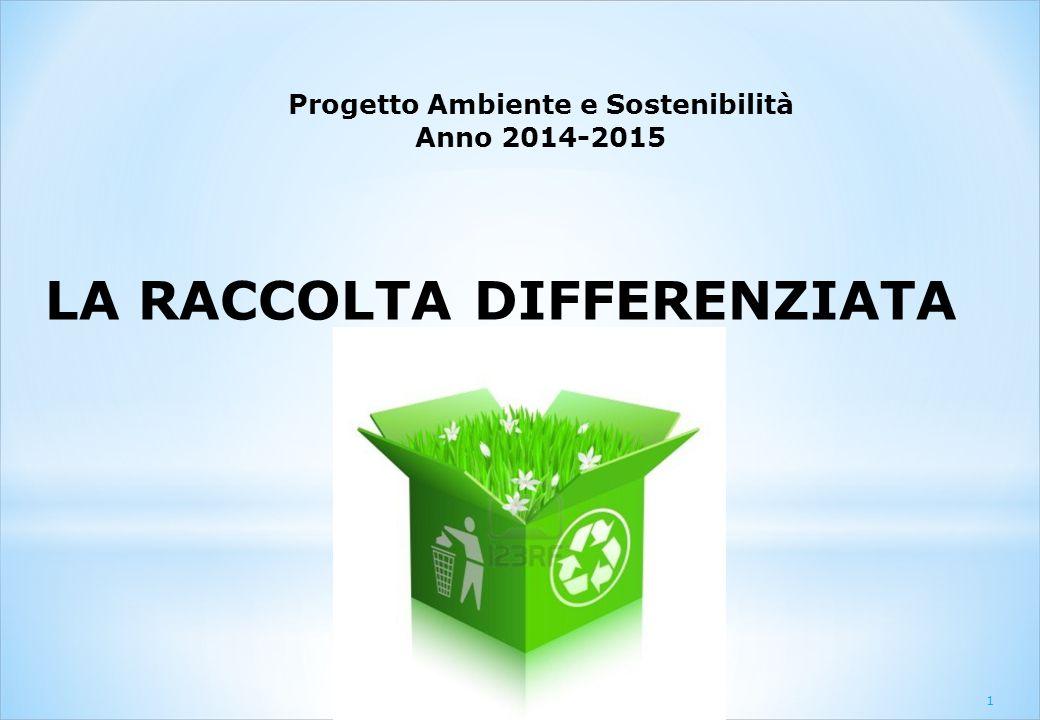 LA RACCOLTA DIFFERENZIATA Progetto Ambiente e Sostenibilità Anno 2014-2015 1