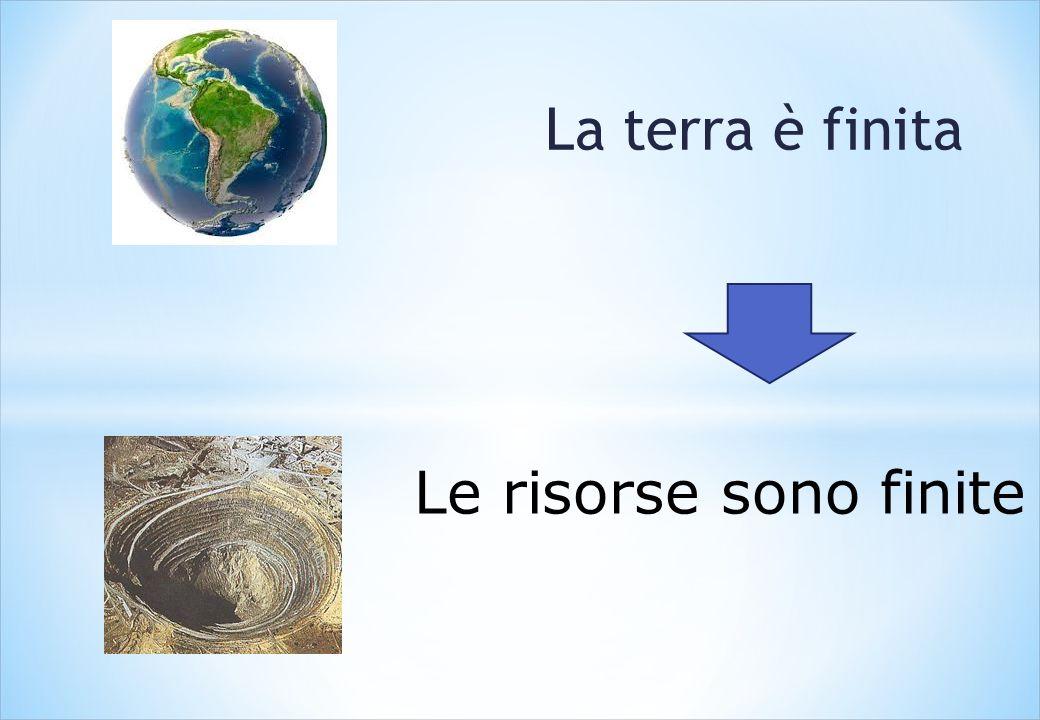 La terra è finita Le risorse sono finite