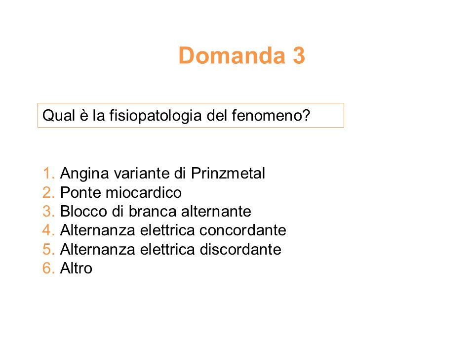 Domanda 3 Qual è la fisiopatologia del fenomeno.1.