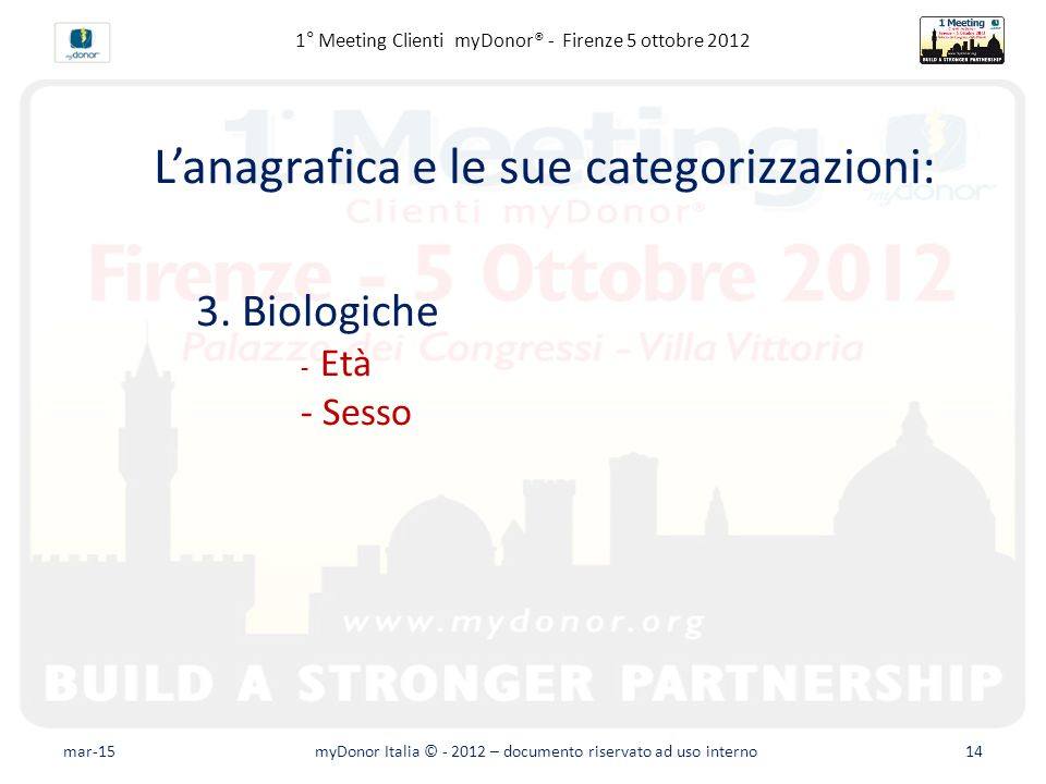 Fundraising avanzato – Il database L'anagrafica e le sue categorizzazioni: 3.
