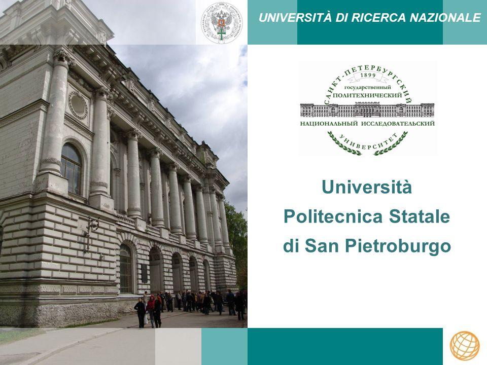Università Politecnica Statale di San Pietroburgo UNIVERSITÀ DI RICERCA NAZIONALE