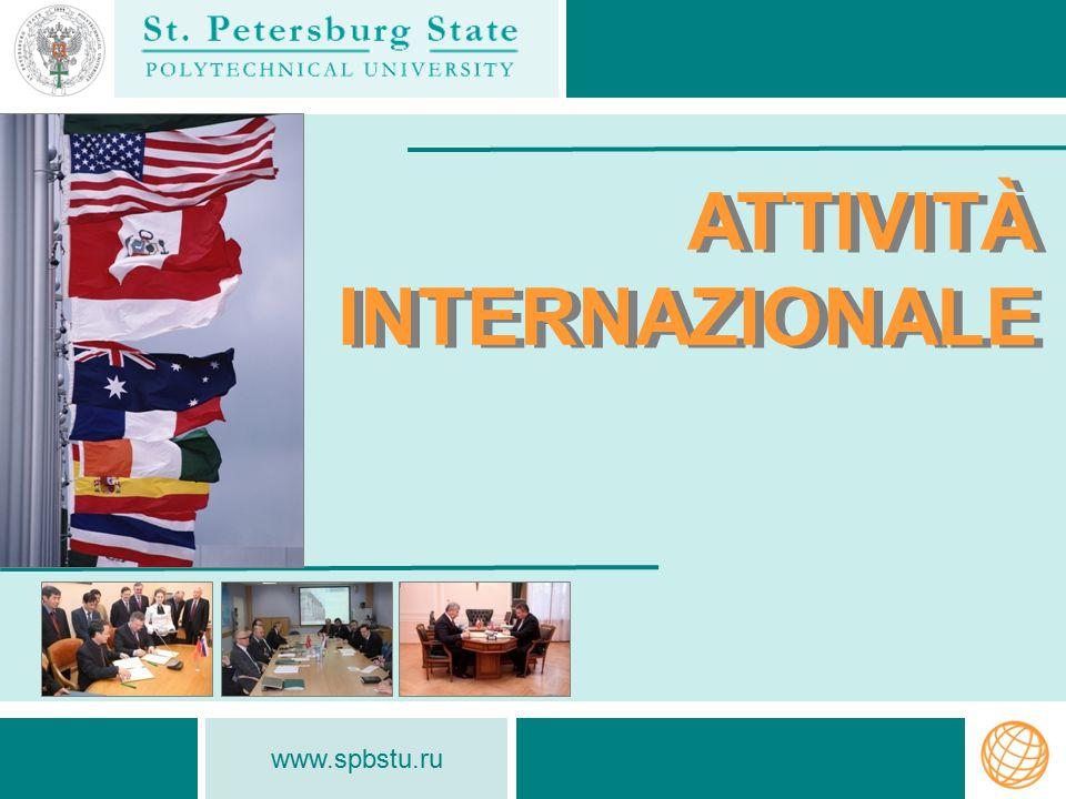 www.spbstu.ru ATTIVITÀ INTERNAZIONALE