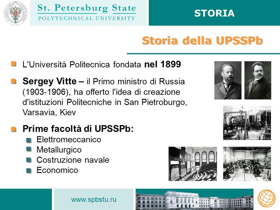 www.spbstu.ru Mobilità accademica ATTIVITÀ INTERNAZIONALE In totale nel 2012 più di 1000 studenti parteciparono a programmi di scambio