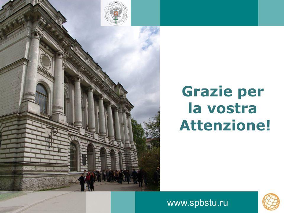 Grazie per la vostra Attenzione! www.spbstu.ru