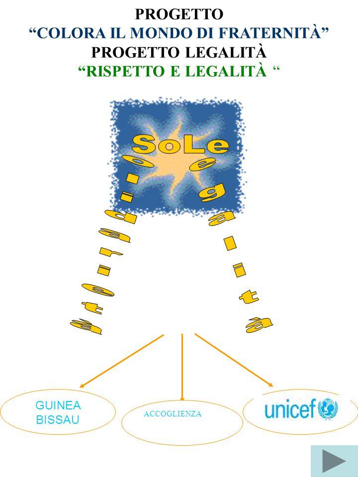 """PROGETTO """"COLORA IL MONDO DI FRATERNITÀ"""" PROGETTO LEGALITÀ """"RISPETTO E LEGALITÀ """" GUINEA BISSAU ACCOGLIENZA"""