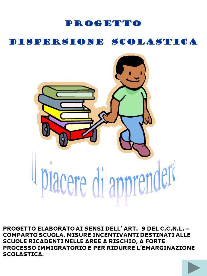 PROGETTO DISPERSIONE SCOLASTICA PROGETTO ELABORATO AI SENSI DELL' ART. 9 DEL C.C.N.L. – COMPARTO SCUOLA. MISURE INCENTIVANTI DESTINATI ALLE SCUOLE RIC