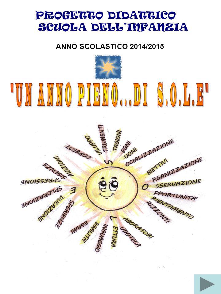 PROGETTO DIDATTICO SCUOLA DELL'INFANZIA ANNO SCOLASTICO 2014/2015