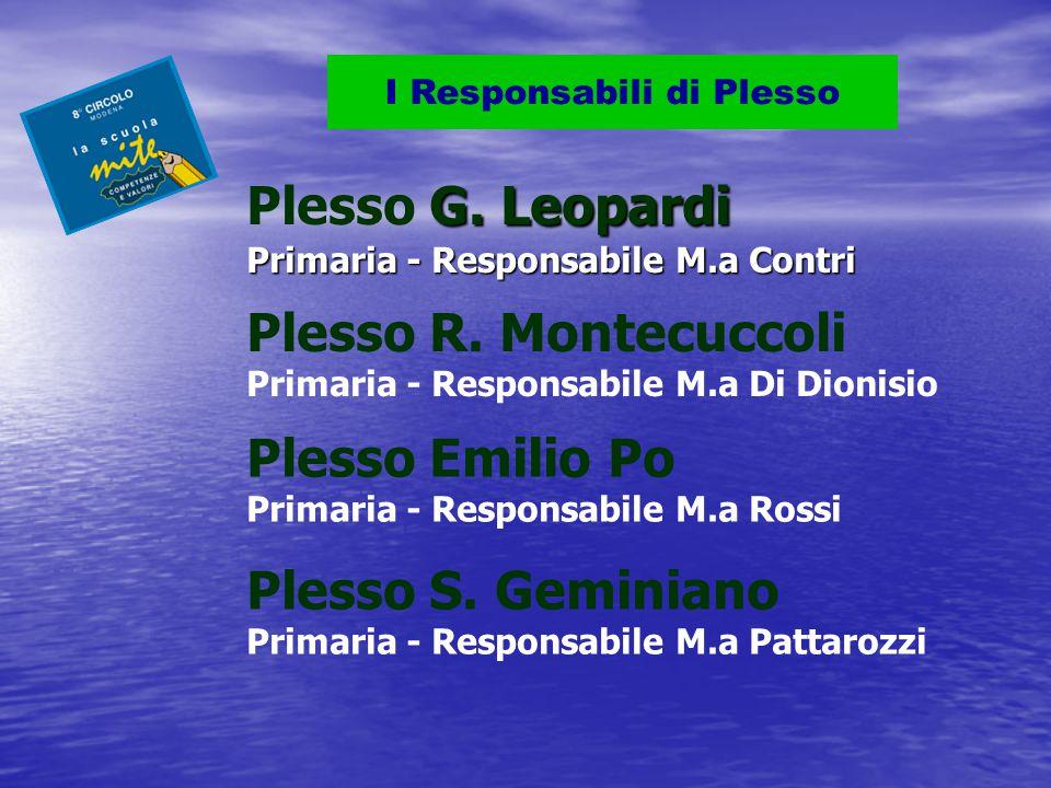 G.Leopardi Primaria - Responsabile M.a Contri Plesso G.