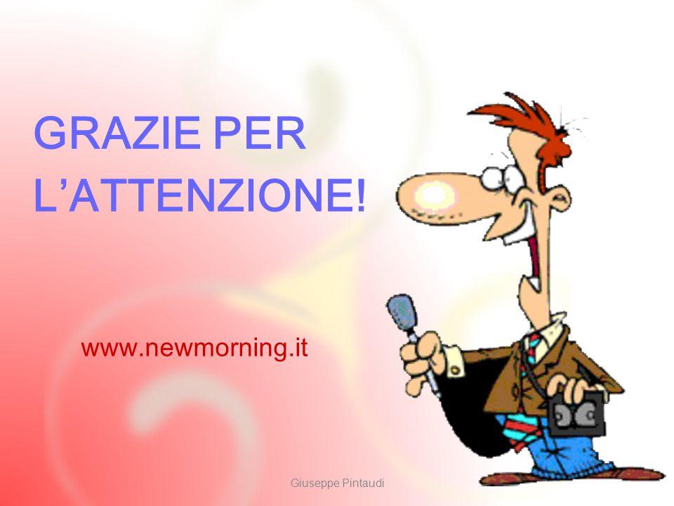 10 GRAZIE PER L'ATTENZIONE! Giuseppe Pintaudi www.newmorning.it
