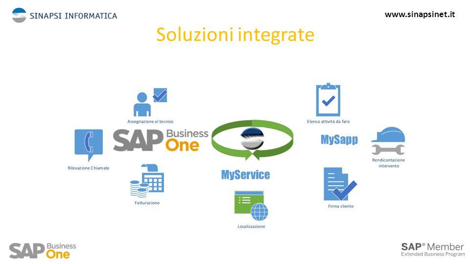 Soluzioni integrate – Web Services ERP cliente (SAP ready) App Mobile Web services 5 www.sinapsinet.it
