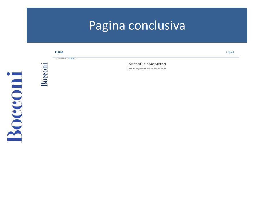 Pagina conclusiva
