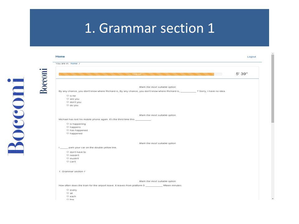 2. Grammar section 2