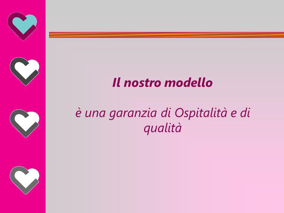 Il nostro modello è una garanzia di Ospitalità e di qualità