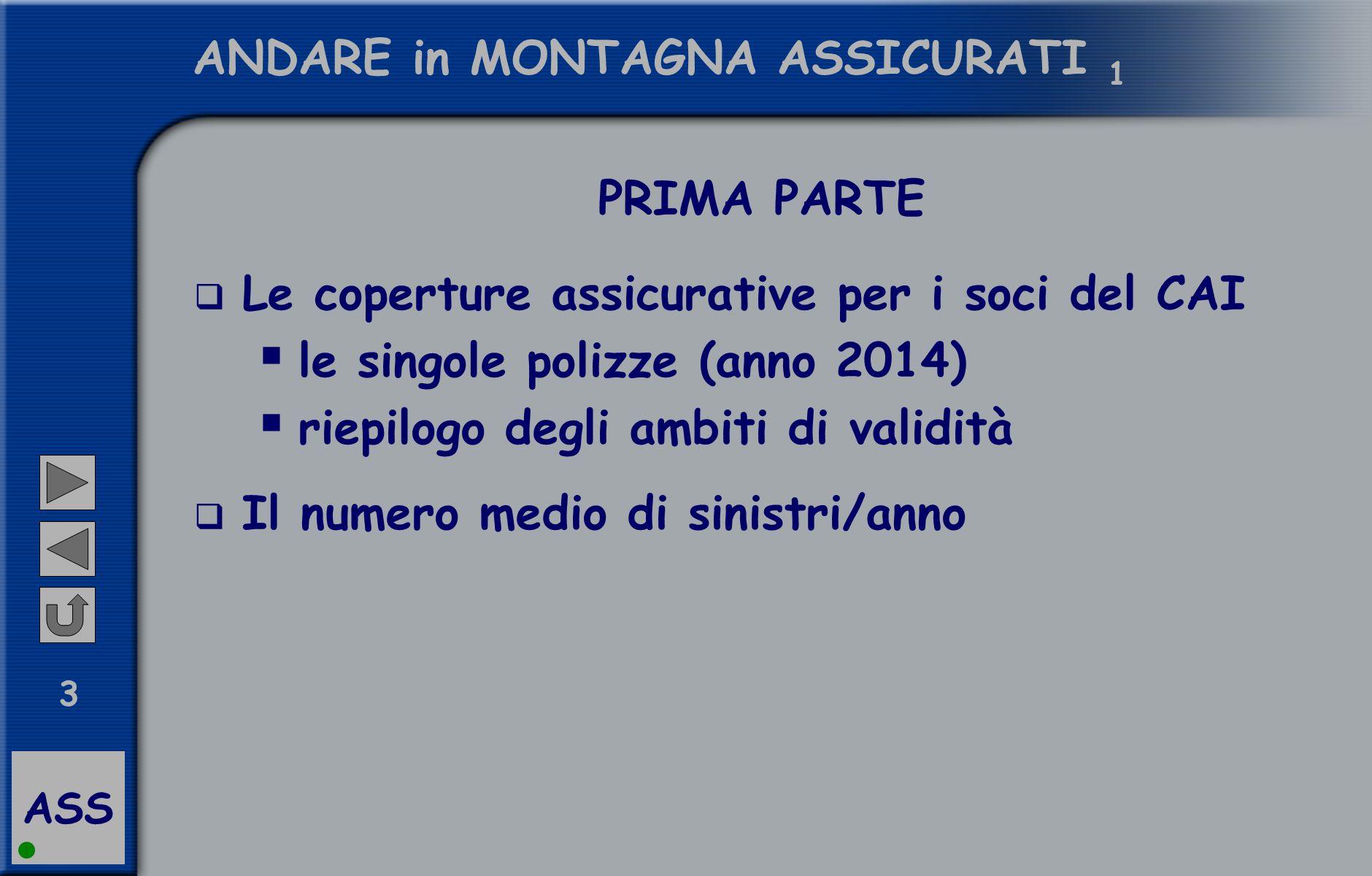 ASS 4 ANDARE in MONTAGNA ASSICURATI SECONDA PARTE  Qualche punto di attenzione per gli accompagnatori  Infortuni  Soccorso alpino